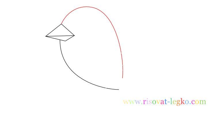 05.Уроки рисования для детей: рисуем красивую птицу
