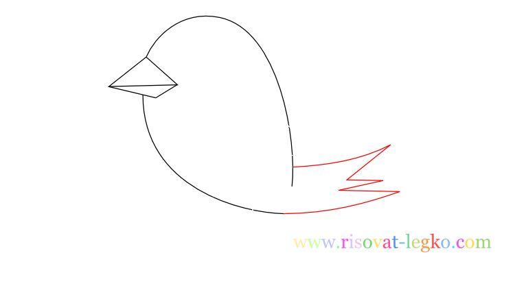 06.Уроки рисования для детей: рисуем красивую птицу