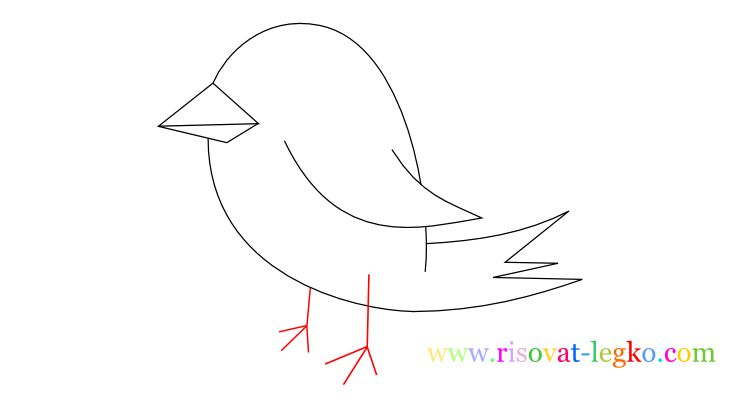 09.Уроки рисования для детей: рисуем красивую птицу