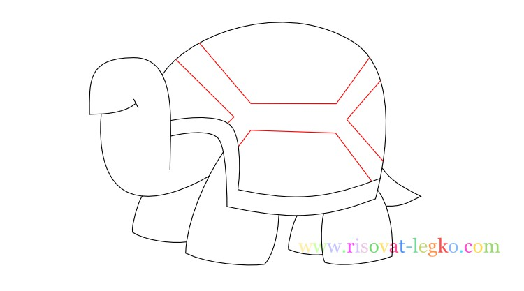10.Поэтапное рисование для детей: рисуем черепаху