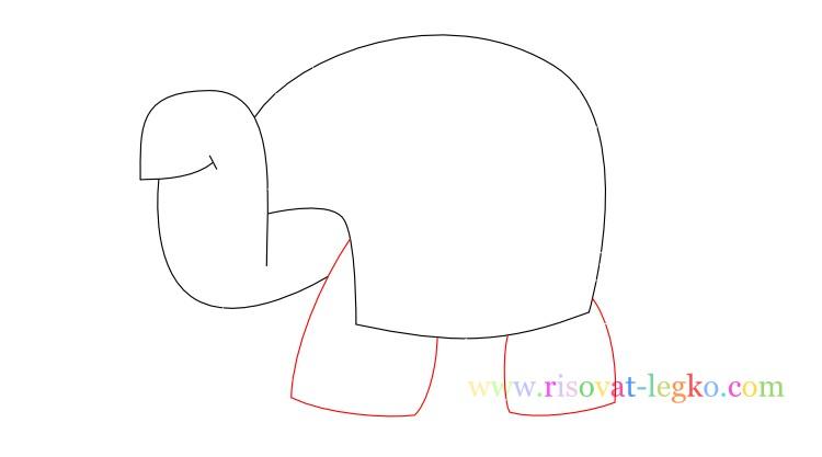 07.Поэтапное рисование для детей: рисуем черепаху