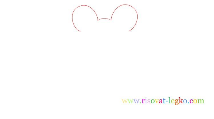 02.Следующий урок в рубрике «рисование для детей» - нарисуем легко веселую лягушку. Внимательно следите за поэтапными иллюстрациями урока, и у вас все получится! Рисуем лягушку вместе! Рисование для детей: как нарисовать лягушку Начинаем рисовать контуры лягушки – то, что вы видите на рисунке ниже больше похоже на уши Микки Мауса, но на самом деле – это контуры головы лягушки, где будут находиться глаза. Важно сделать их достаточно большими, по отношению к туловищу, чтобы рисунок получился красивым. Фото2 Далее нарисуйте линии туловища. Не соединяйте линии туловище внизу, оставьте достаточно места для лап лягушки. Фото3 Теперь переходим к поэтапному рисованию лап. Нарисуйте сначала одну переднюю лапку лягушки… Фото4 …затем нарисуйте вторую лапку. Не забудьте соединить передние лапки полукруглой линией туловища. Внимательно посмотрите рисунок ниже. Фото5 Продолжаем поэтапное рисование для детей и теперь рисуем поочередно задние лапки лягушки. Чтобы было легче, сначала нарисуйте стопу одной лапки. Фото6 Закончите рисовать лапку линией бедра лягушки. Фото7 Нарисуйте вторую лапку лягушки. Обратите внимание, у лягушек задние лапы довольно большие поэтому и на рисунке задние лапы должны быть большими. Фото8 Остается нарисовать глаза и рот лягушки. Глаза можете нарисовать фломастером или карандашом черного цвета. Глаза рисуются следующим образом: нарисуйте круг с толстой обводкой, внутри него еще один круг, смещенный вниз. Фото9 Спасибо за ваше внимание к этому уроку, жду вас в следующих уроках!