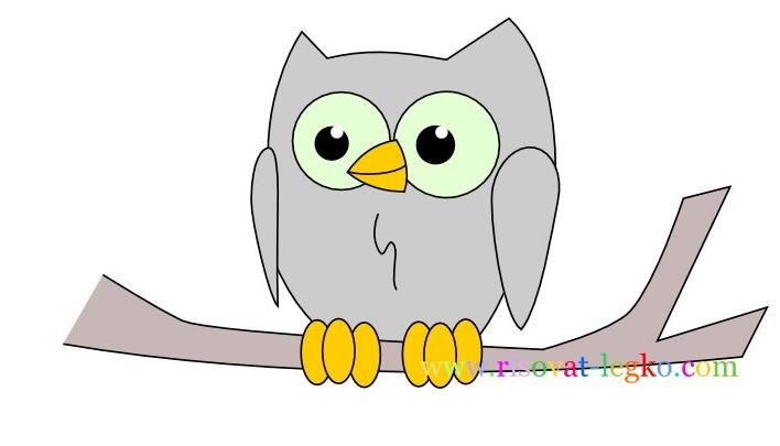 01.Уроки рисования карандашом для детей – рисуем сову