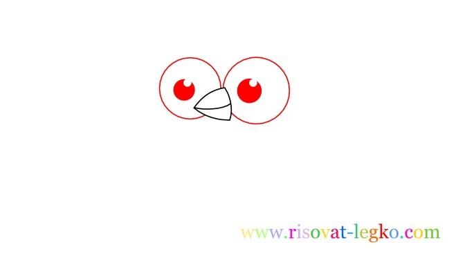 03.Уроки рисования карандашом для детей – рисуем сову