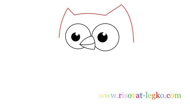 04.Уроки рисования карандашом для детей – рисуем сову