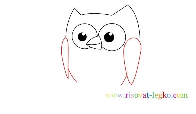 05.Уроки рисования карандашом для детей – рисуем сову