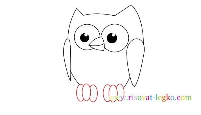 06.Уроки рисования карандашом для детей – рисуем сову