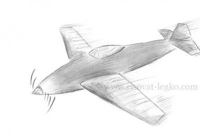 01.Как нарисовать самолет карандашом поэтапно