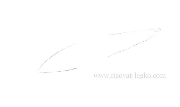 02.Как нарисовать самолет карандашом поэтапно