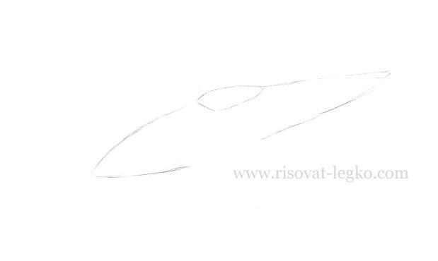 03.Как нарисовать самолет карандашом поэтапно