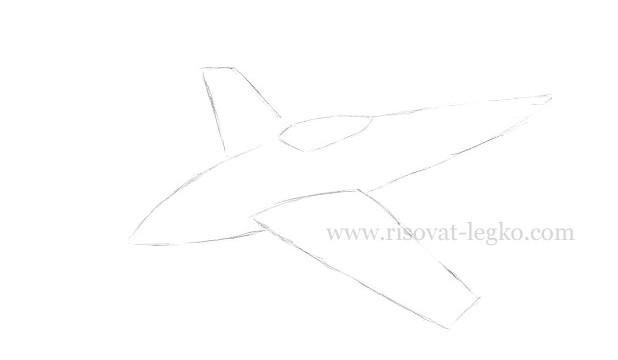 05.Как нарисовать самолет карандашом поэтапно