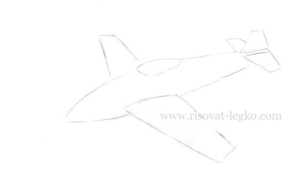 06.Как нарисовать самолет карандашом поэтапно