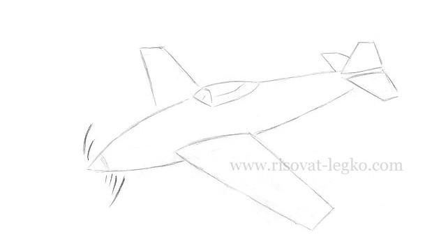 07.Как нарисовать самолет карандашом поэтапно