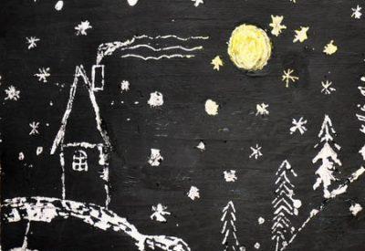 01.Граттаж техника рисования для детей