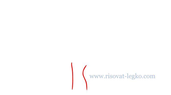 02.Как нарисовать дерево карандашом поэтапно легко