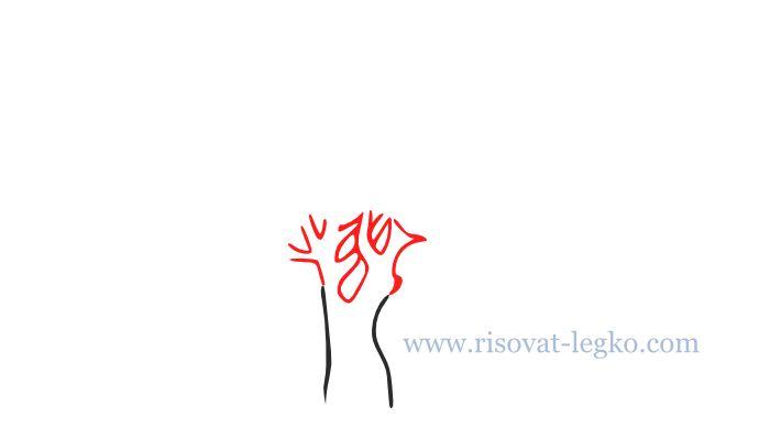 03.Как нарисовать дерево карандашом поэтапно легко
