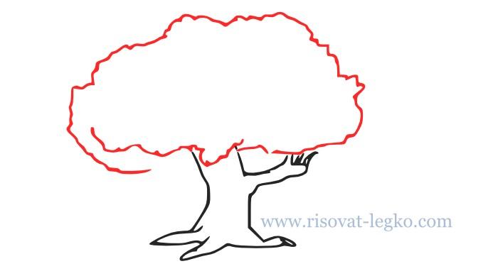 05.Как нарисовать дерево поэтапно для начинающих