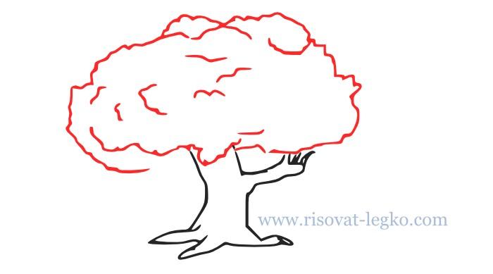 06.Как нарисовать дерево поэтапно для начинающих