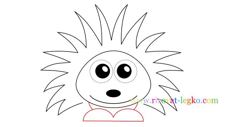 06.Как нарисовать ежика поэтапно: рисуем с детьми