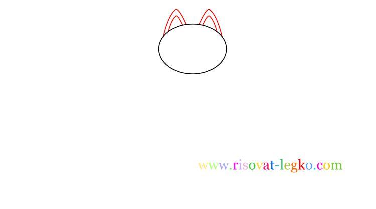 03.Как нарисовать кошку ребенку карандашом