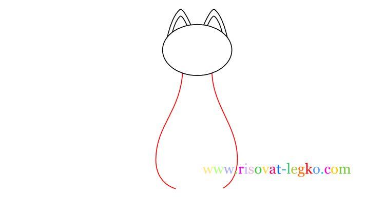 04.Как нарисовать кошку ребенку карандашом
