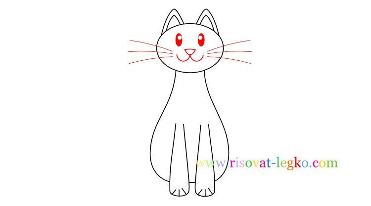 06.Как нарисовать кошку ребенку карандашом