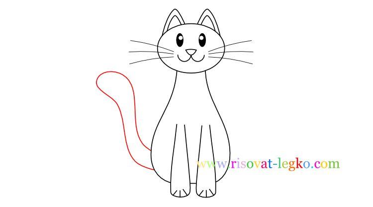 07.Как нарисовать кошку ребенку карандашом