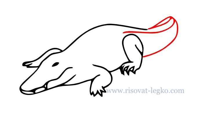 08.Как нарисовать крокодила поэтапно для начинающих
