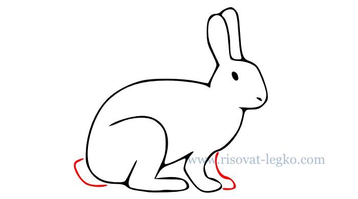 07.Как нарисовать кролика поэтапно – легкий урок