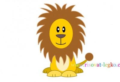 01.Как нарисовать льва карандашом поэтапно для детей