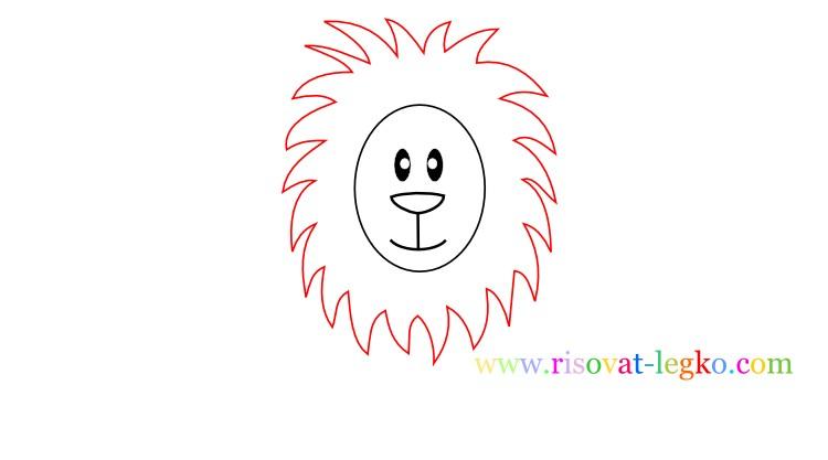 04.Как нарисовать льва карандашом поэтапно для детей