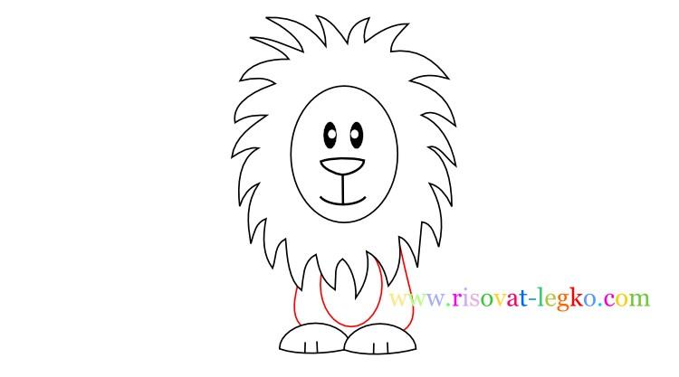 06.Как нарисовать льва карандашом поэтапно для детей