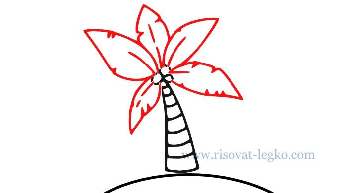 05.Как нарисовать пальму поэтапно для начинающих