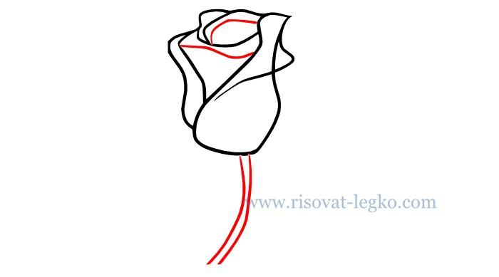 04.Как нарисовать розу карандашом поэтапно