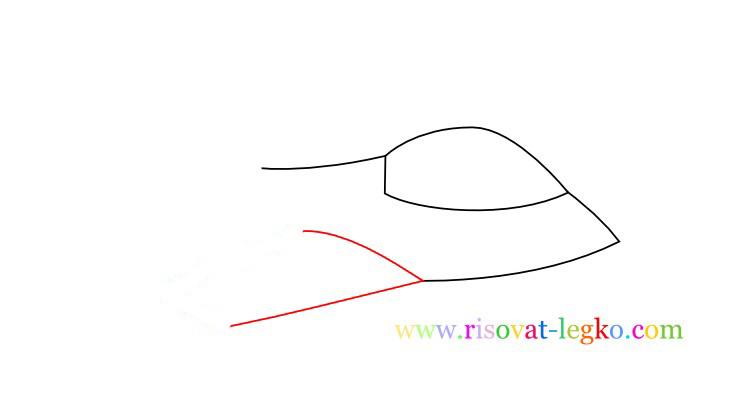 04.Как нарисовать самолет поэтапно для детей