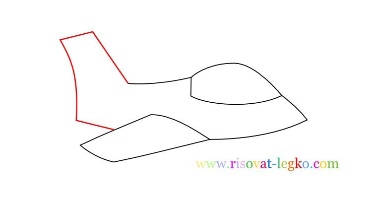 06.Как нарисовать самолет поэтапно для детей