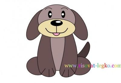 01.Как нарисовать собаку для детей карандашом