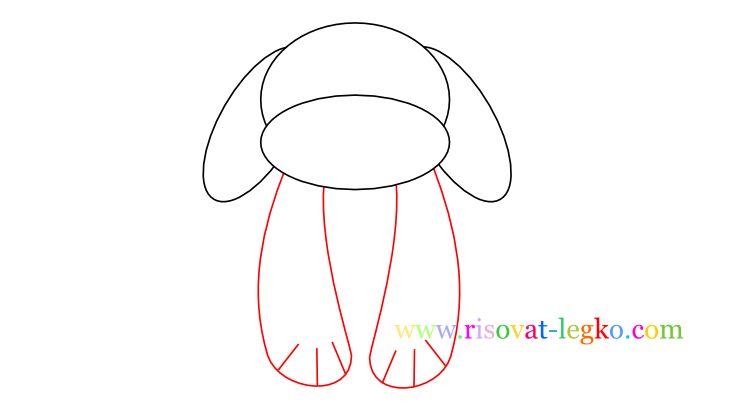 04.Как нарисовать собаку для детей карандашом