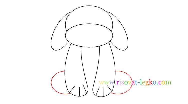 05.Как нарисовать собаку для детей карандашом