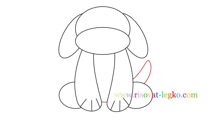 06.Как нарисовать собаку для детей карандашом