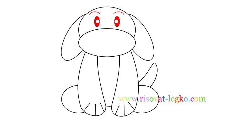 07.Как нарисовать собаку для детей карандашом