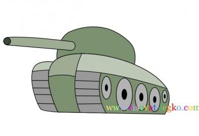 01.Как нарисовать танк поэтапно для детей