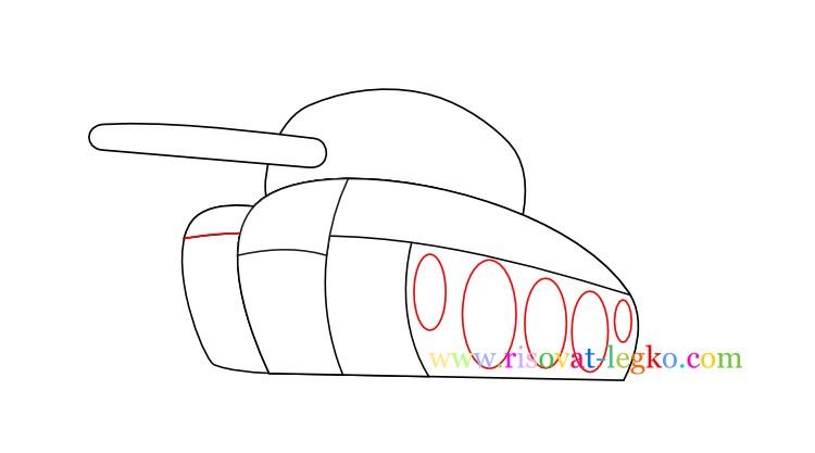 07.Как нарисовать танк поэтапно для детей