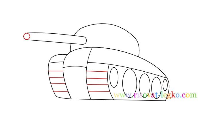 08.Как нарисовать танк поэтапно для детей
