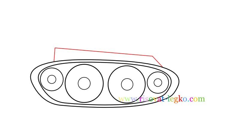 06.Как нарисовать танк поэтапно ребенку