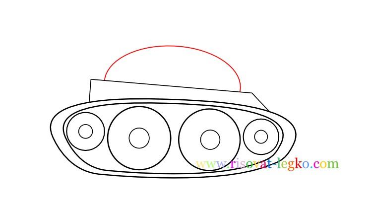 07.Как нарисовать танк поэтапно ребенку