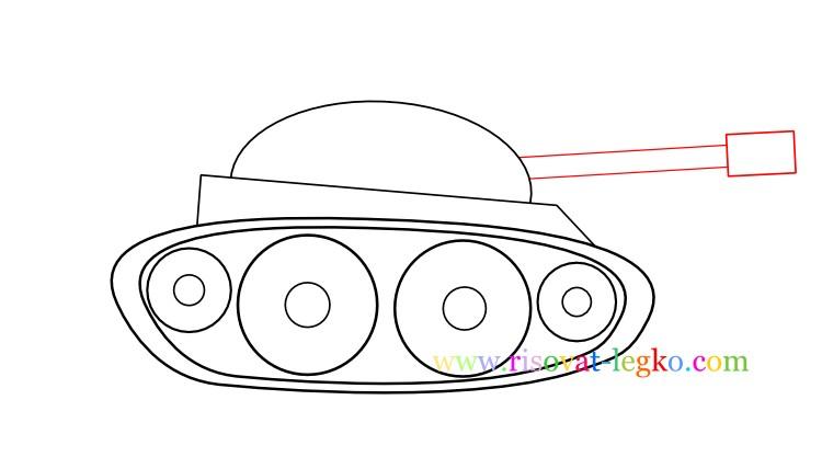 08.Как нарисовать танк поэтапно ребенку