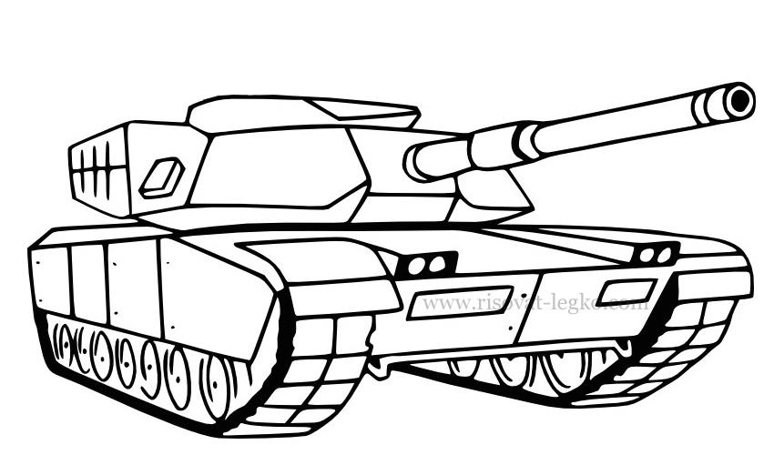 10.Как нарисовать танк поэтапно: военная техника