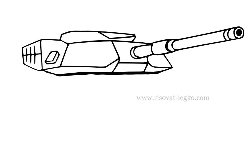 04.Как нарисовать танк поэтапно: военная техника