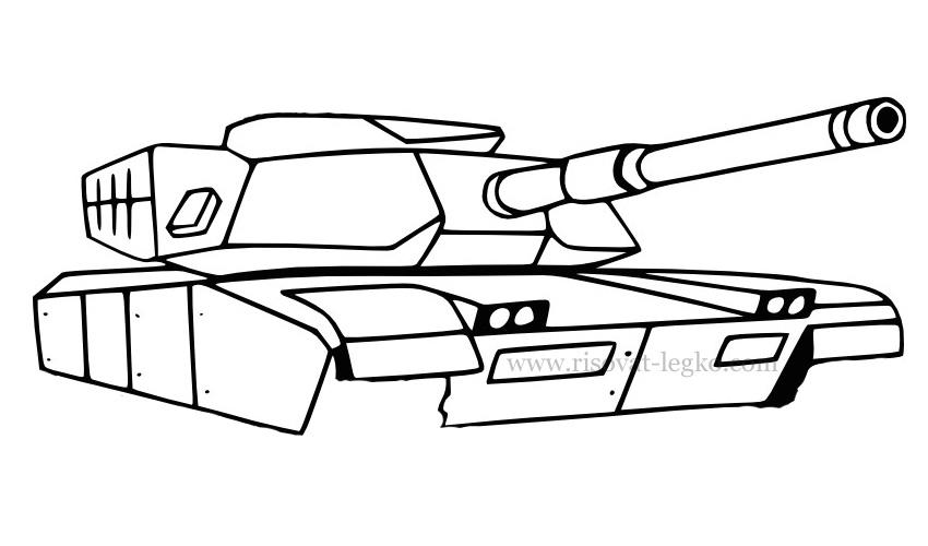 08.Как нарисовать танк поэтапно: военная техника